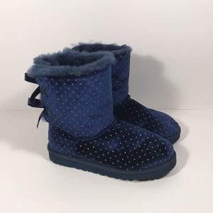 Ugg Bailey Bow Stardust Boots Youth Girl Size 6